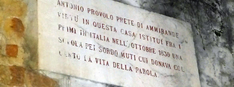 targa antonio provolo via noris verona ottobre 1830