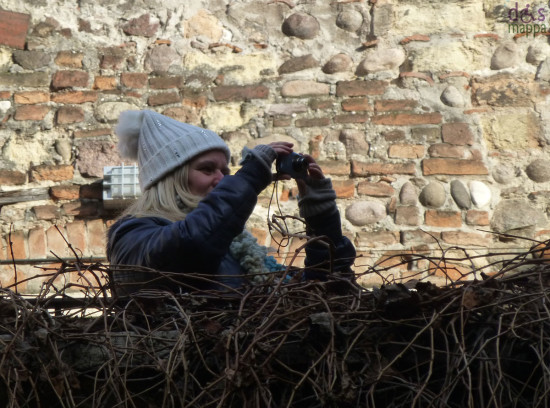 foto dal terrazzo della casa di giulietta a verona