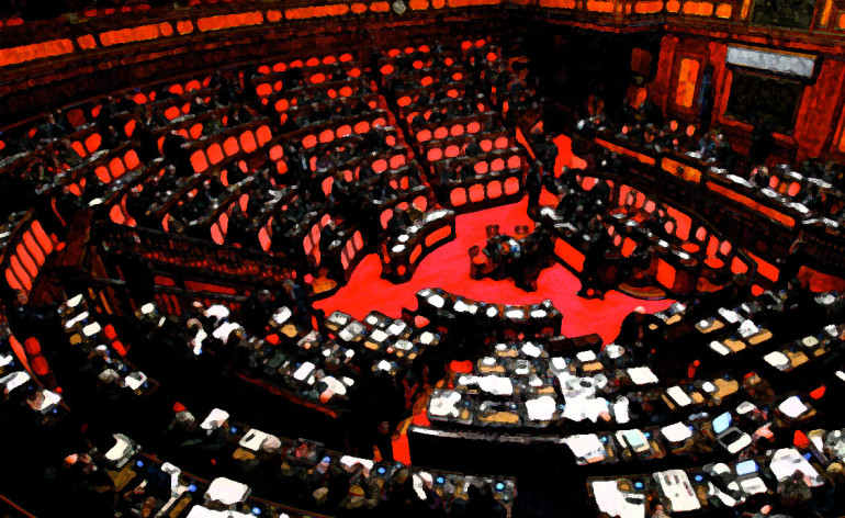 parlamento italiano affresco