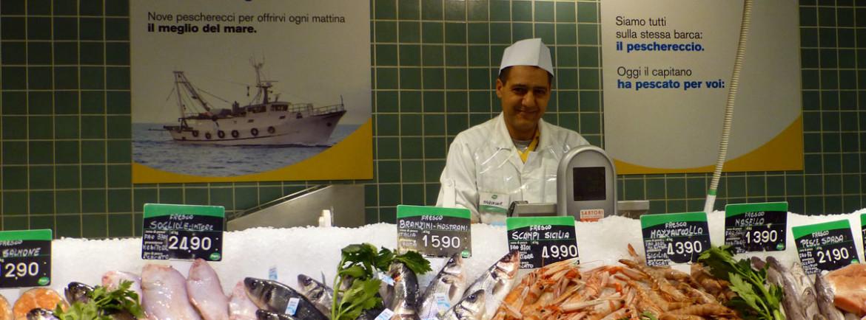 banco pesce fresco pescheria supermercati pam verona centro storico