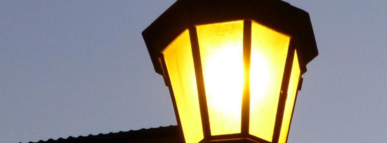 verona lampione in piazza dante