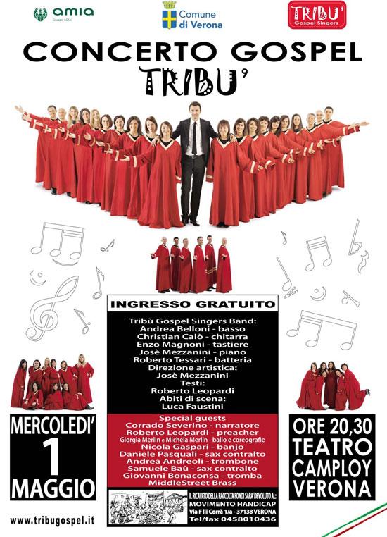 concerto tribù gospel singers al teatro camploy di verona