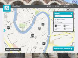 wheelmate verona per trovare parcheggi disabili e bagni accessibili basato su google map