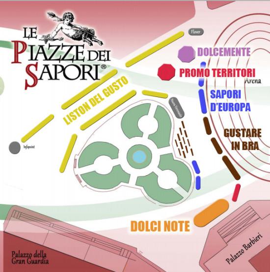 Mappa / legenda degli stand in Piazza Bra