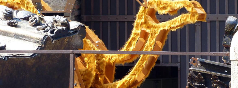 sagoma di cammello, scenografia del festival del centenario all'arena di verona