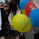 bambina e palloncini alla partenza della straverona 2013
