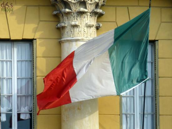 Bandiera Tricolore a Palazzo Barbieri, sede del Comune di Verona
