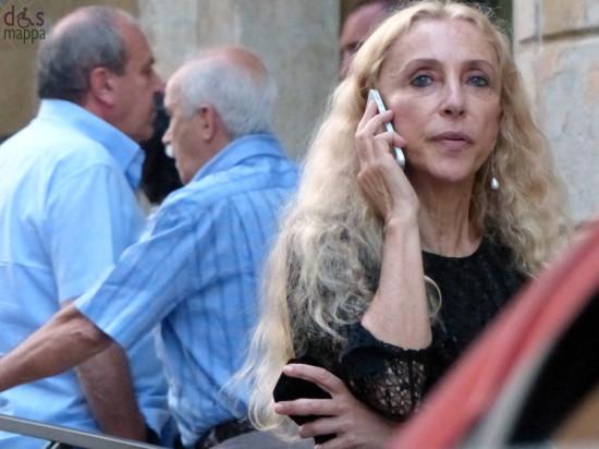 franca sozzani direttrice di vogue italia fuori dall'arena di verona