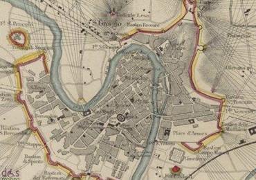 particolare di mappa storica di verona fortificata 1866 da gallica