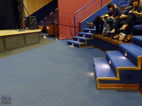 I posti riservati ai disabili in carrozzina al Teatro Camploy di Verona