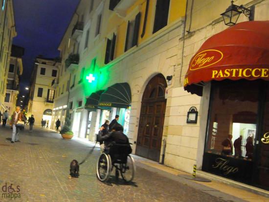 In una città accessibile si può decidere di usare temporaneamente la carrozzina per portare fuori il cane se capita di avere una gamba ingessata
