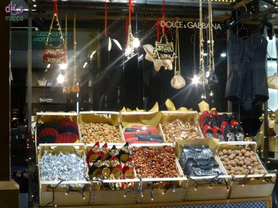 Le vetrine del Natale 2012 nel negozio di Dolce e Gabbana in via Mazzini a Verona