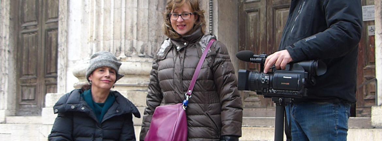 Stamattina Marina Zerman mi ha intervistata per Tele Pace, ecco la foto ricordo alla fine delle riprese