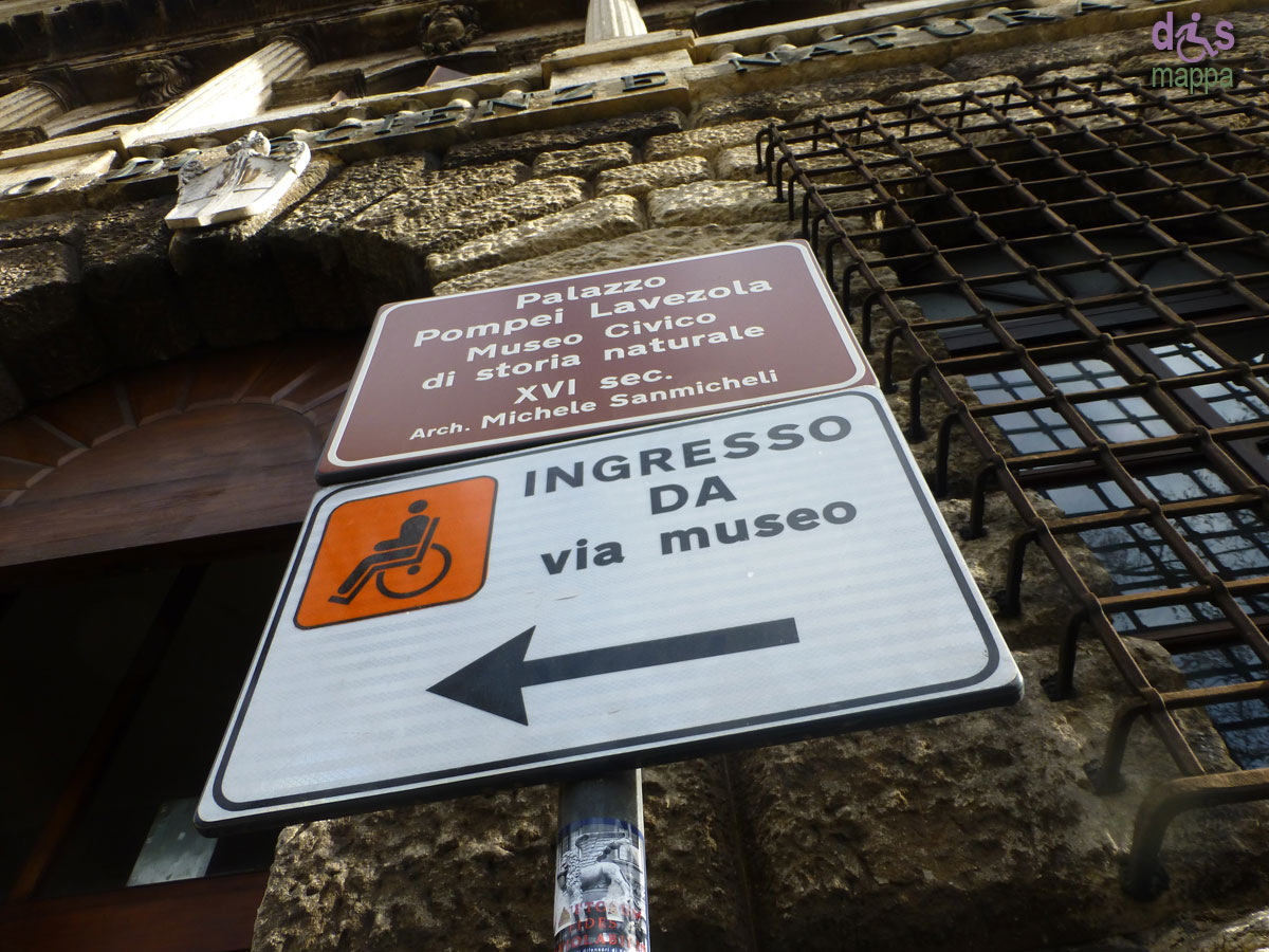 20130207 Entrata disabili Museo storia naturale Verona