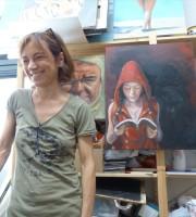 Accessibilità studio d'arte Fuori Bolla A Verona di Francesca Veneri, artista a tempo pieno - pittrice, decoratrice e stilista - e Andrea Sambugaro, giornalista e pittore.