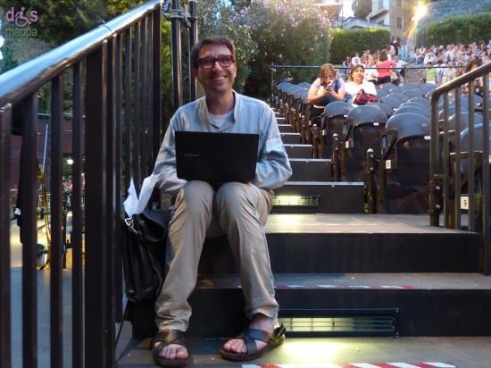 Il giornalista e critico teatrale Simone Azzoni al Teatro romano di Verona