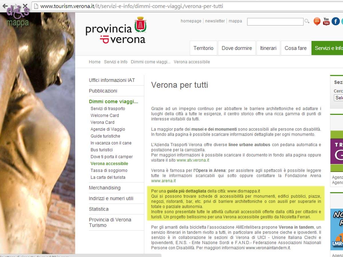 Gratificazioni provinciali | disMappa per Verona accessibile