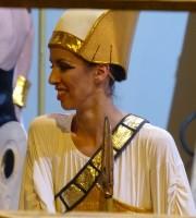 Sul retro dell'Arena di Verona durante Aida, backstage prima di Gloria all'Egitto