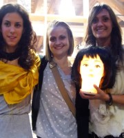 Le ballerine Martina Bianchi e Irene Marchetto con la coreografa Katia Tubini di Les Petits Pas testimonial di accessibilità per disMappa