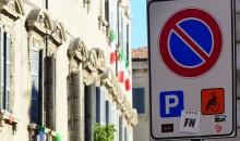 Parcheggio disabili a metà Corso Cavour