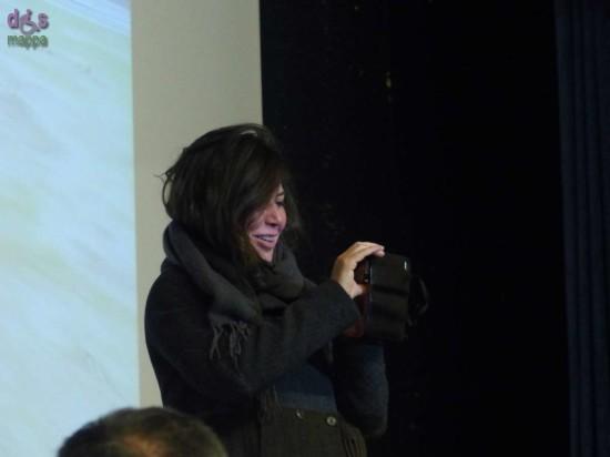 Sabina Guzzanti, arriva alla presentazione del suo ultimo film, «La Trattativa»