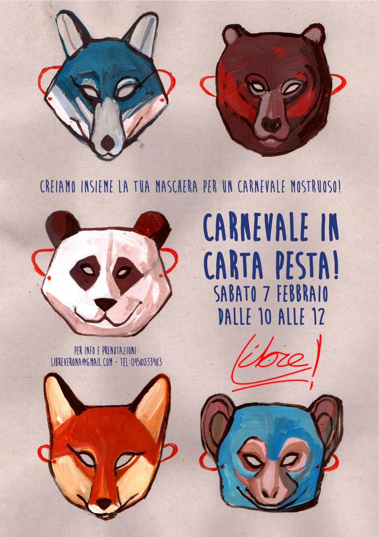 Carnevale in cartapesta laboratorio da libre dismappa for Carta per cartapesta