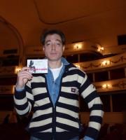 """L'attore Maurizio Lombardi, a Verona con """"The Pride"""", testimone di accessibilità per dismappa."""