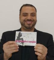 L'artista Roberto Pugliese, a Verona con la sua opera La finta semplice, testimone di accessibilità per dismappa.
