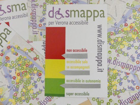 cartolina dismappa per misurare velocemente le barriere architettoniche