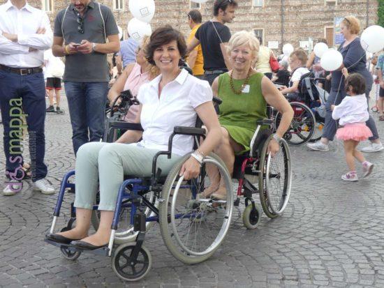 La candidata sindaco Patrizia Bisinella con Anna Leso