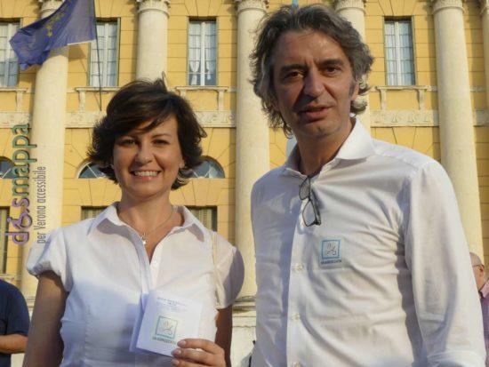 I candidati sindaco Patrizia Bisinella e Federico Sboarina