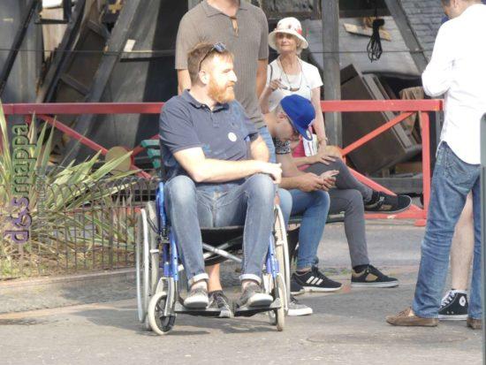 Alessandro Gennari M5S in sedia a rotelle per la Skarrozzata a Verona