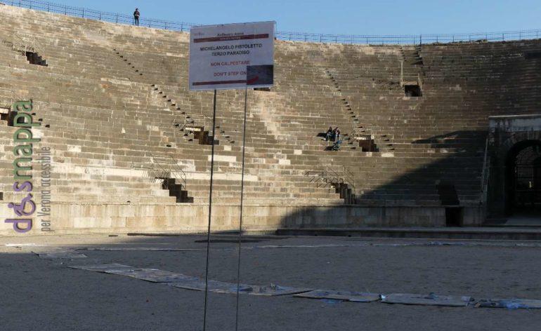 Terzo Paradiso, installazione di Michelangelo Pistoletto all'Arena di Verona