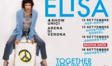 Elisa: 4 giorni insieme in Arena per i 20 anni di carriera