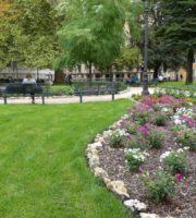 Fiori e prato nella riqualificazione dei Giardini di Piazza Indipendenza a Verona, galleria fotografica per la scheda accessibilità disabili del sito dismappa.it