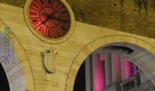 L'orologio della Bra in rosso per Verona in Love